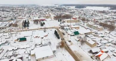 Зимний поселок. Видео Сергея Кузьмина