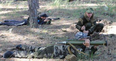 Продолжает работу военный лагерь