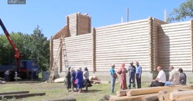 Видеосюжет о строительстве храма в Красивке