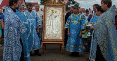 Карандеевскую икону встретили в Гавриловке