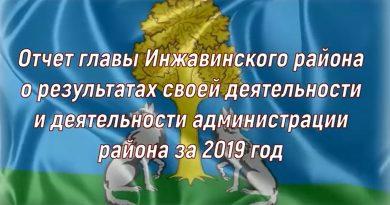 Отчет главы Инжавинского района за 2019 год